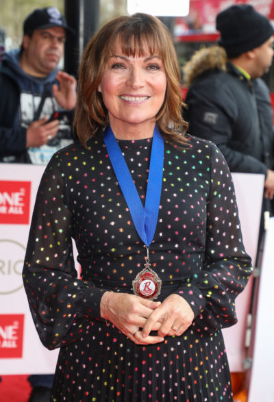 Lorraine Kelly on the red carpet