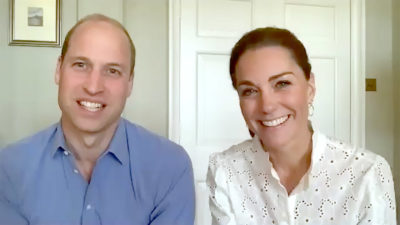 Prince William and Kate on a Zoom call
