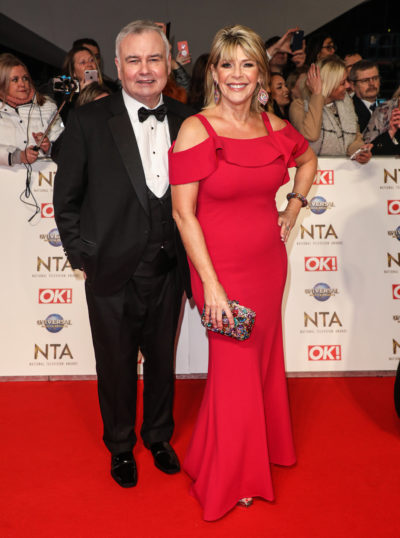 Eamonn Holmes and Ruth Langsford on the red carper