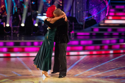 max and Dianne hugging on strictly