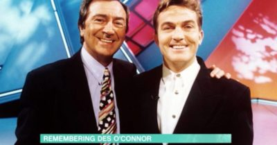Des O'Connor with Bradley Walsh
