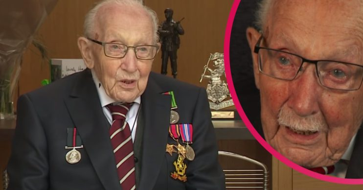 Sir Captain Tom Moore speaks about his late wife Pamela