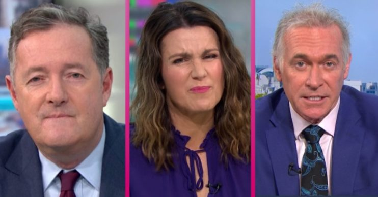 GMB's Piers Morgan, Susanna Reid and Dr Hilary Jones