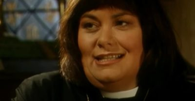 Dawn French plays Geraldine in The Vicar of Dibley