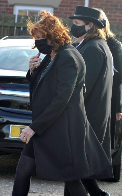 Bobby Ball wife at his funeral