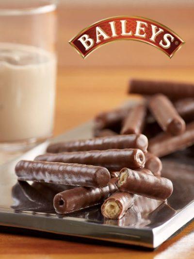 Baileys new chocolate twists with a glass of baileys