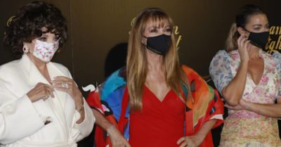 Joan Collins, Jane Seymour and Denise Richards mask up