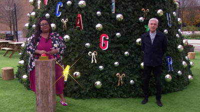Alison Hammond and Phillip Schofield turn on Christmas lights at White City