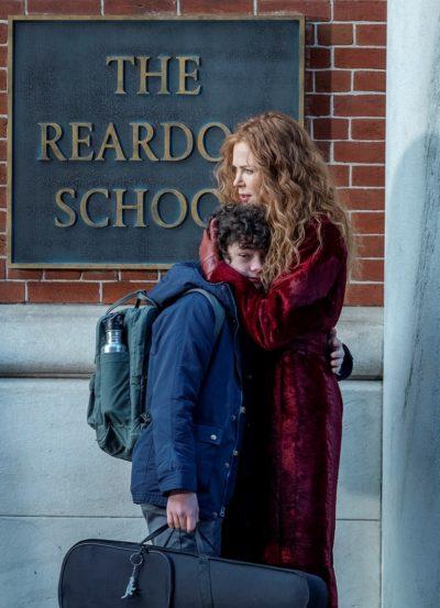 Grace hugs Henry outside of school in The Undoing