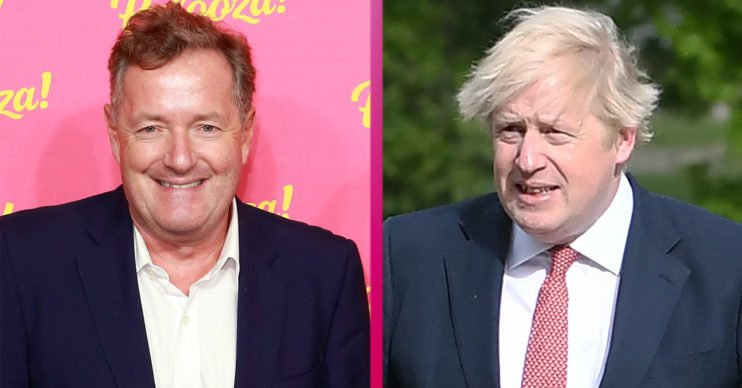 Piers Morgan and Boris Johnson