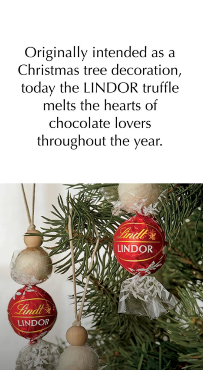 lindt truffles as Christmas baubles