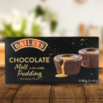 Lifestyle shot of new Baileys chocolate puddings