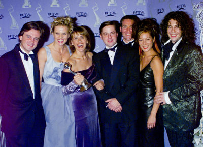 cast of changing rooms at an awards ceremony