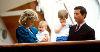 prince harry as a baby with his family