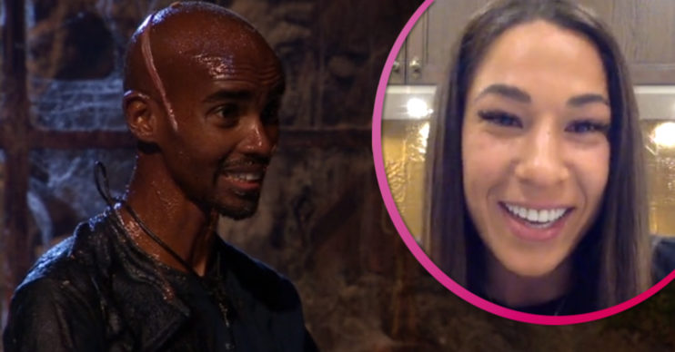 Mo farah on I'm A Celebrity / wife