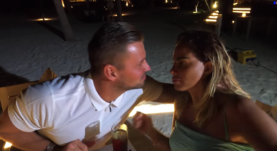 Katie and carl looked loved up on the holiday (Credit: YouTube)