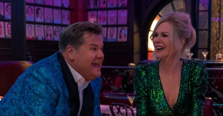 Nicole Kidman and James Corden in Netflix's Prom