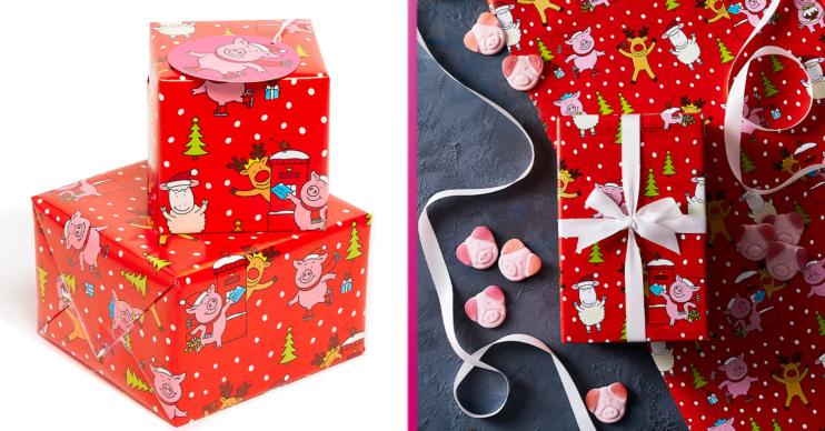 Percy pig wrapping paper