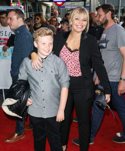 Kate thornton with her son