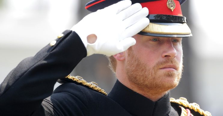 Prince Harry in his military uniform