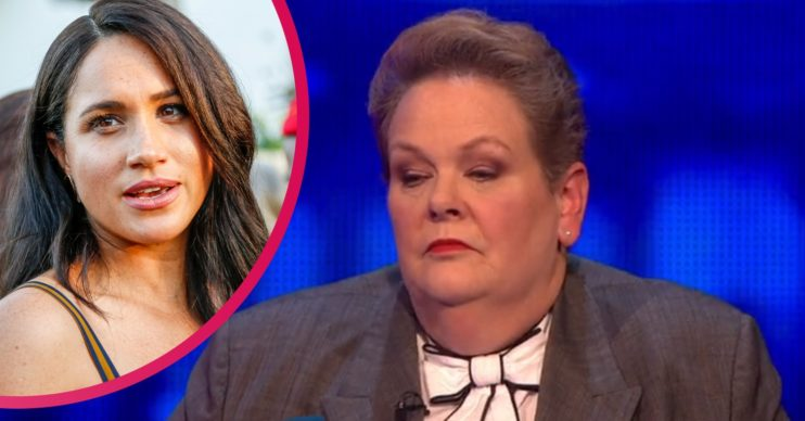 Meghan Markle and Anne Hegerty