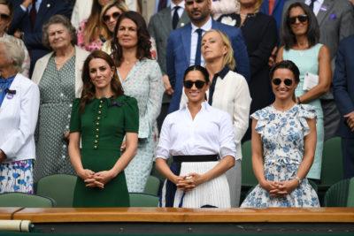 Kate Middleton, Meghan Markle and Pippa Middleton at Wimbledon