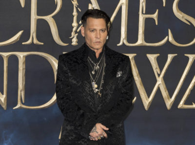 Johnny Depp at Fantastic Beasts premiere
