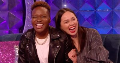 Nicola Adams and Katya Jones appear on Strictly Come Dancing's It Takes Two