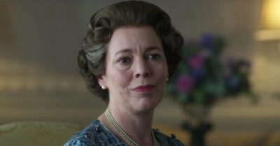 Olivia Colman plays The Queen