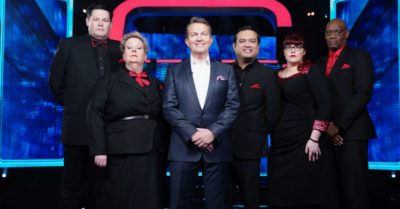 Bradley Walsh lines up with The Chasers
