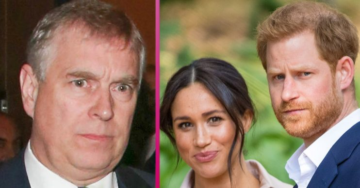 prince andrew and prince harry and meghan markle