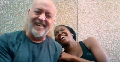 Bill Bailey and Oti Mabuse appear on Morning Live