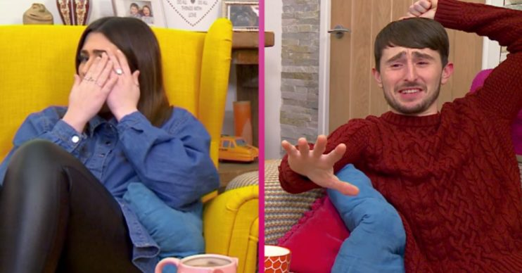 Gogglebox's Sophie and Pete could barely look
