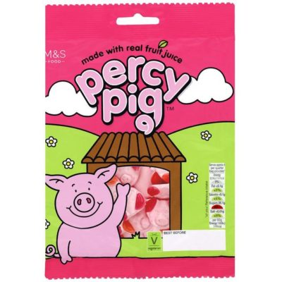 Packet of Percy Pig sweets