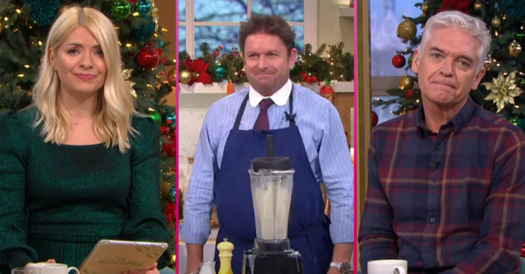 James Martin suffers cooking mishap on This Morning