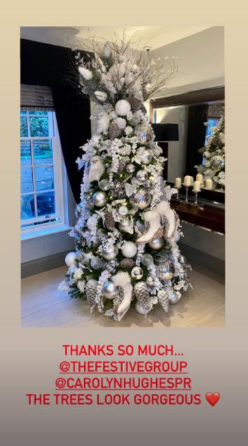 Coleen Rooney Christmas tree