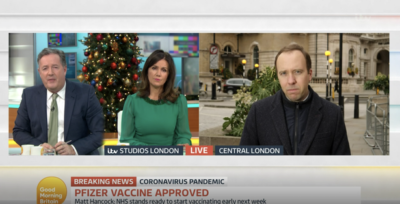 Piers Morgan vowed to the the vaccine live on GMB