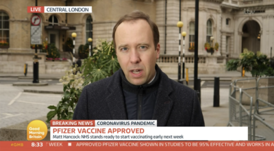 Britain to start vaccination against COVID-19 next week