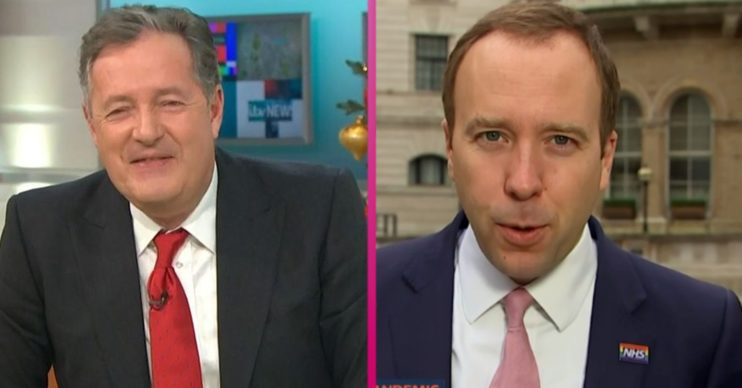 Piers Morgan and Matt Hancock on GMB