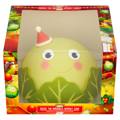asda bruce the Brussel spout cake