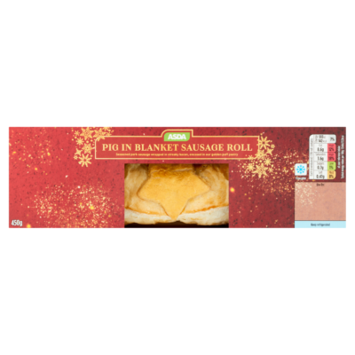 asda pig in blanket sausage roll in a box