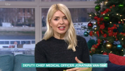 holly Willoughby fronting this morning
