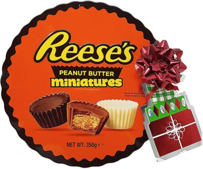 tin of peanut butter cups