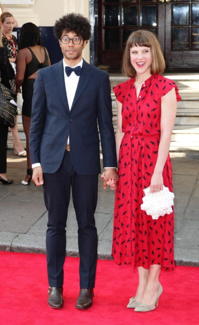 Richard Ayoade and his wife Lydia Fox