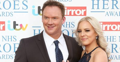 Russell Watson with his wife Louise in 2018