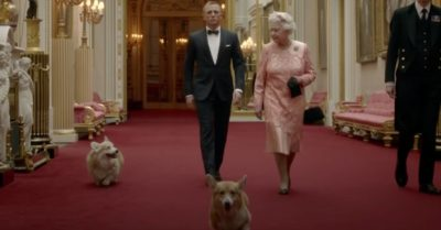 Monty the dog, Daniel Craig and the Queen