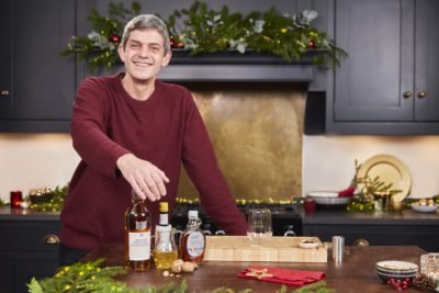 Merlin from First Dates with some cocktails