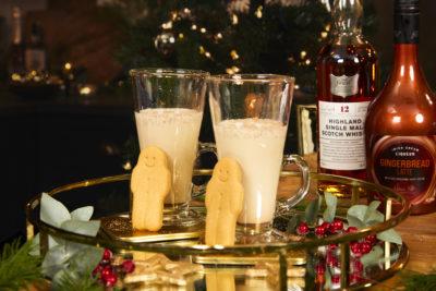lifestyle shot of Tesco's Gingerbread Latte Cream Liqueur