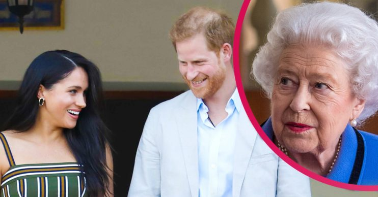 the queen prince harry meghan markle