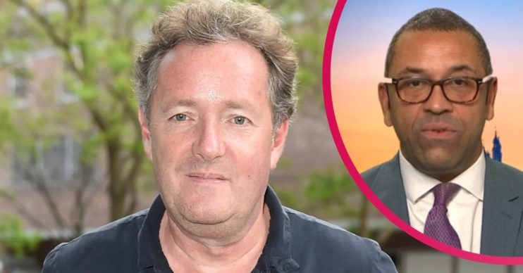 Piers Morgan and James Cleverly on Good Morning Britain